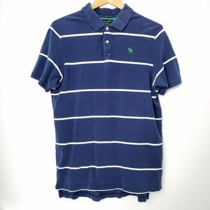 Ambercombie & Fitch blue polo shirt vintage style